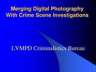 Merging Digital Photography With Crime Scene Investigations
