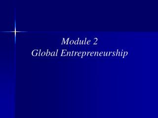 Module 2 Global Entrepreneurship