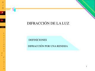 DIFRACCIÓN DE LA LUZ