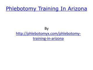 Phlebotomy Training In Arizona