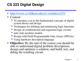 CS 223 Digital Design