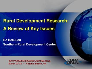 Rural Development  Research: A Review of Key Issues