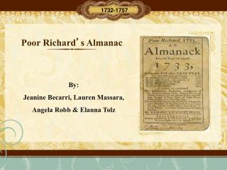 Poor Richard ' s Almanac