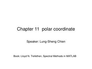 Chapter 11  polar coordinate