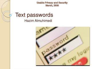 Text passwords