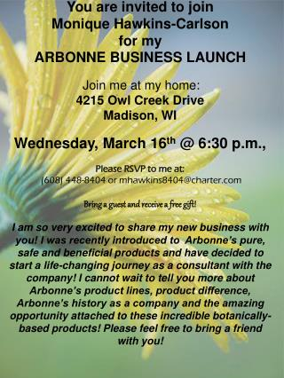 Business Launch Invite General w Flower