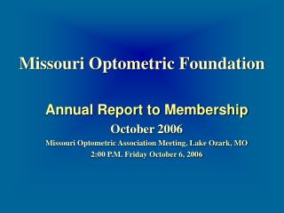Missouri Optometric Foundation