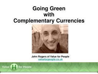 Going Green  with  Complementary Currencies