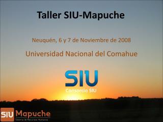 Taller SIU-Mapuche