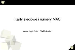 Karty sieciowe i MAC