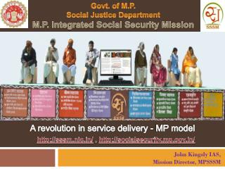 Govt. of M.P. Social Justice Department M.P. Integrated Social Security Mission
