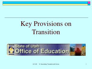 Key Provisions on Transition