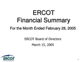 ERCOT Financial Summary