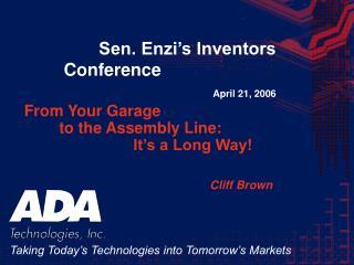 Sen. Enzi's Inventors Conference April 21, 2006