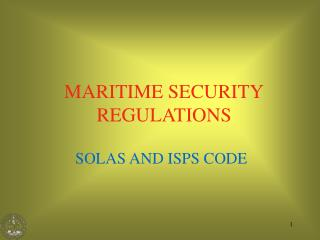 MARITIME SECURITY REGULATIONS