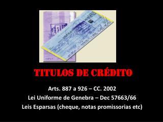 TITULOS DE CR�DITO