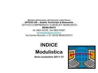 INDICE Modulistica Anno scolastico 2011-12