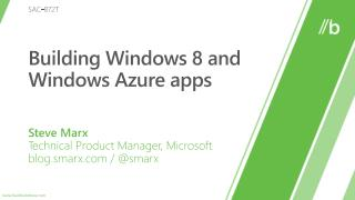 Building Windows 8 and Windows Azure apps
