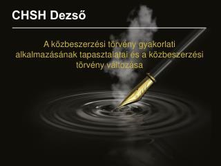 CHSH Dezső