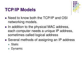 TCP/IP Models