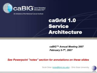 caGrid 1.0 Service Architecture