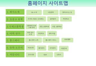 홈페이지 사이트맵