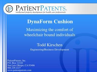 DynaForm Cushion