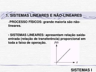 PROCESSO FÍSICOS: grande maioria são não-lineares.