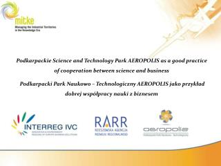 PODKARPACKIE REGION overview human resources Rzeszów-Jasionka Airport economy AEROPOLIS