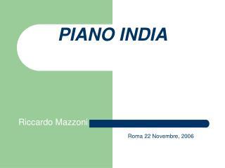 PIANO INDIA