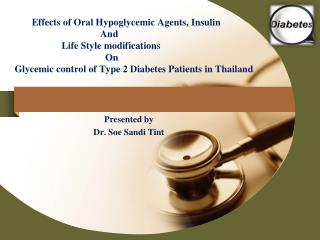 Presented by Dr. Soe Sandi Tint