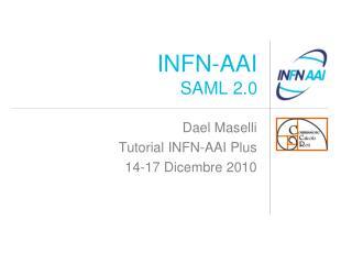 INFN-AAI SAML 2.0