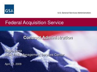Ralph Lentz GSA, FAS, Management Services Center