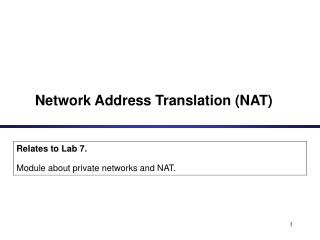 Network Address Translation NAT