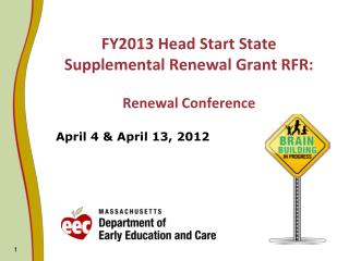 FY2013 Head Start State Supplemental Renewal Grant RFR:   Renewal Conference