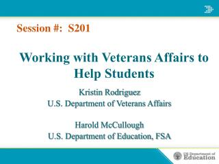 Working with Veterans Affairs to Help Students in PPT Format