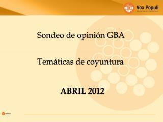 Sondeo de opinión GBA