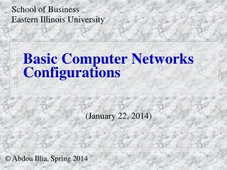 Basic Computer Networks Configurations
