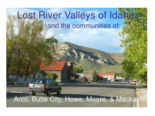 Lost River Valleys of Idaho