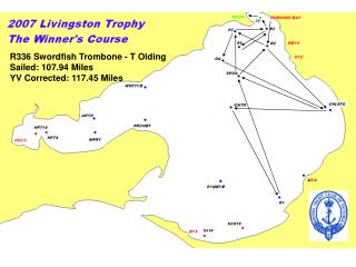 R336 Swordfish Trombone - T Olding Sailed: 107.94 Miles YV Corrected: 117.45 Miles
