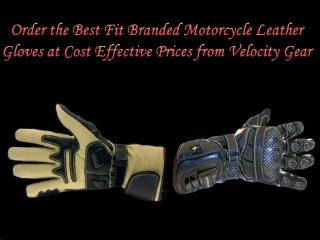 Best Fit Branded Motorcycle Leather Gloves