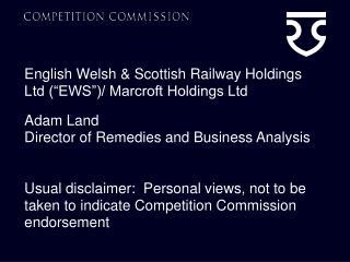 English Welsh  Scottish Railway Holdings Ltd  EWS
