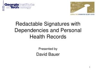 Redactable Signatures with Dependencies and Personal Health Records
