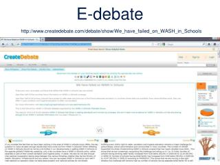 E-debate createdebate/debate/show/We_have_failed_on_WASH_in_Schools