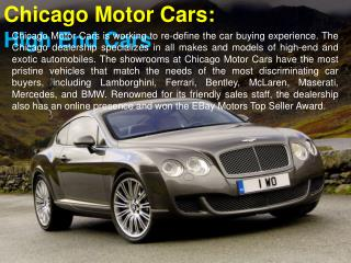 Chicago Motor Cars: High End Cars