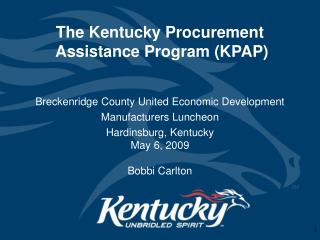 The Kentucky Procurement  Assistance Program KPAP