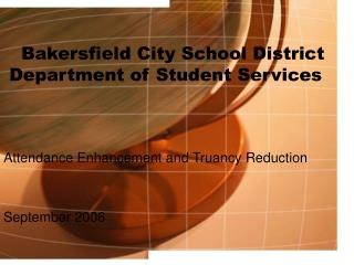 Bakersfield City School District  Department of Student Services