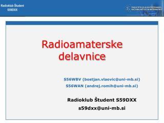 Radioamaterske delavnice