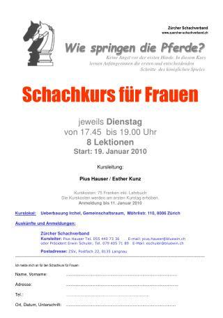Z�rcher Schachverband zuercher-schachverband.ch