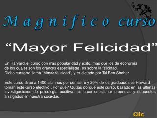 Mayor Felicidad